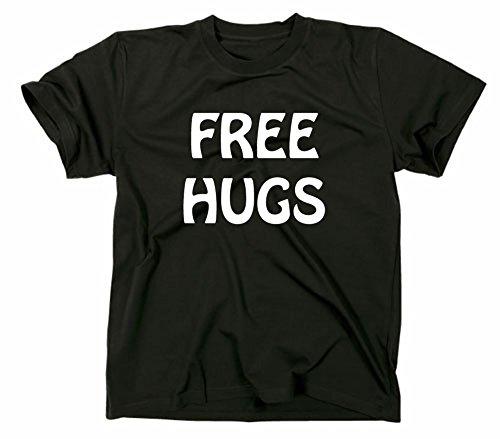 Free Hugs Fun T-shirt, Unisex adulto, Black, XL