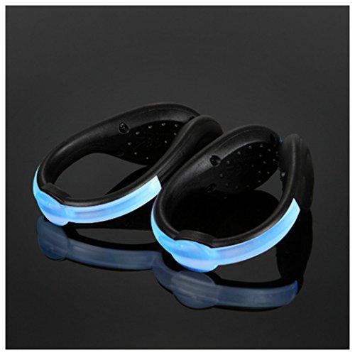 LED Schuh Clip Licht, Laufen Beleuchtung Led Nacht Sport Schuhe Clip Lichter, blau (Nike Light Up Schuhe)