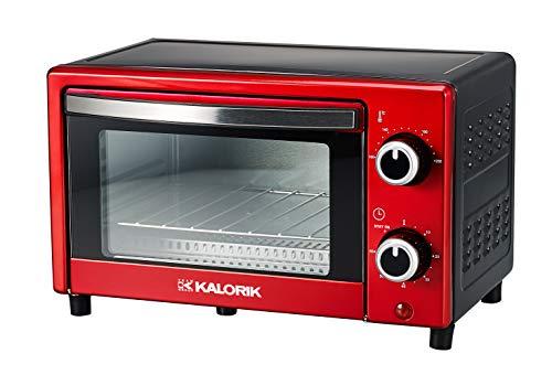 Team Kalorik TKG OT 1025 N RD Multiofen 9 Liter, 900, Metall/Glas/Kunststoff, 9 liters, metallic Rot