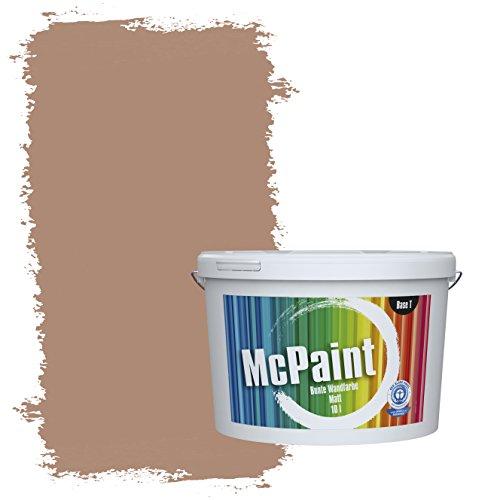 McPaint Bunte Wandfarbe Treibholz - 10 Liter - Weitere Braune und Dunkle Farbtöne Erhältlich - Weitere Größen Verfügbar