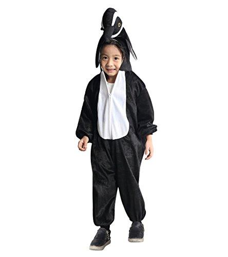 Kostüm Kind Kleinkind Eisbär - Pinguin-Kostüm, AN76 Gr. 92-98, für Klein-Kinder, Babies, Pinguin-Kostüme Pinguine Kinder-Kostüme Fasching Karneval, Kinder-Karnevalskostüme, Kinder-Faschingskostüme, Geburtstags-Geschenk