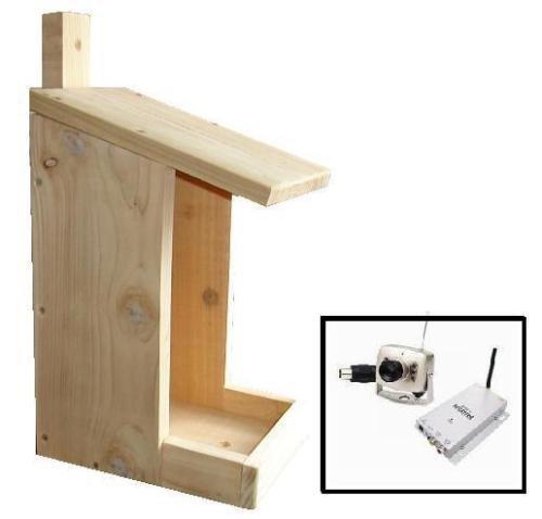 Bird Feeder - Wth Wireless Colour & Ir Camera - Cedar - Bird Table- Wildlife