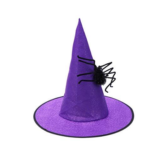 t Hexe Dress Up Spinne Vlies Kappe Hüte Make-up Requisiten für Party Festival Maskerade (lila) ()