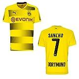 puma BVB Borussia Dortmund Trikot Home 2017 / 2018 mit Spieler Name, Größe:L, BVB SPIELER:SANCHO