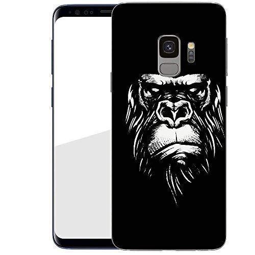 Hardcase Handyhülle für Dein Samsung Galaxy S9 von finoo Made In Germany Hülle mit Motiv für Optimalen Schutz Polycarbonat Tasche Case Cover Schutzhülle für Dein Samsung Galaxy S9 - Monkey Face Monkey Telefon