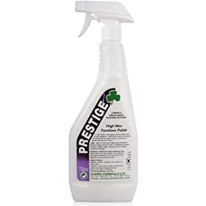 Prestige Professional Furniture Wax & Polish (750ML). Cleaning Accessories Powered by TheChemicalHut. - Comes With TCH Anti-Bacterial Pen! by TheChemicalHut