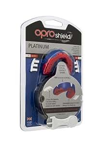 OPRO Platinum Erwachsene Mundschutz, Blau/WeiÃ?/Rot