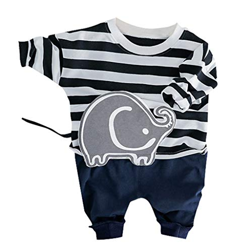 Toddler Kids Baby Boys Cartoon Pullover T-Shirt Tops Jeans Pants Outfits Set