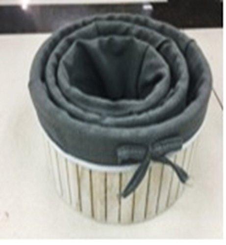 Organisation Körben–Körbe 3-teilig rund Utility Aufbewahrungskörbe, verschiedene Größen, Weiß Korb mit grau Futter