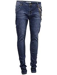 Femmes Déchiré Look Stretch Jeans Jean Homme Pantalons Par Brave Soul
