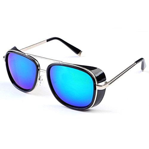 Deylay Steampunk Sonnenbrille Manner Frauen Gespiegelte Brillen Vintage Sonnenbrillen Farbe 7