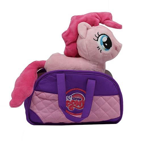 MLP My Little Pony Kuscheltier Pinkie Pie (rosa) mit Tragetasche, Plüschfigur für Kinder