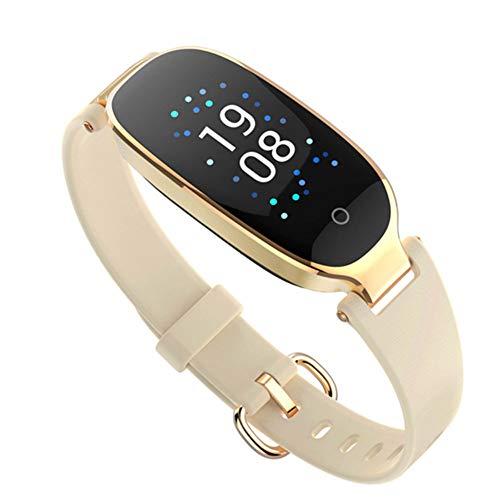 HLL Damenmode Farbdisplay Smart Armband, Herzfrequenz Gesundheit Wasserdicht Kalorienüberwachung Multifunktions-Sport-Armband-Tabelle,D -