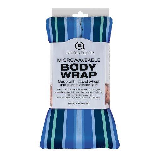 """Nici Body Wrap \""""Aroma Home\""""/ mit ätherischen Ölen/ blau gestreift, wärme & kälte Therapie/ ideal als Geschenk"""