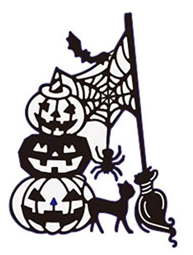 1 stücke Kürbis Hexe Metall Stanzformen Für Halloween Scrapbooking Stahl Handwerk Gestanzte Kreative Stempel Präge Karten Schablone (C)