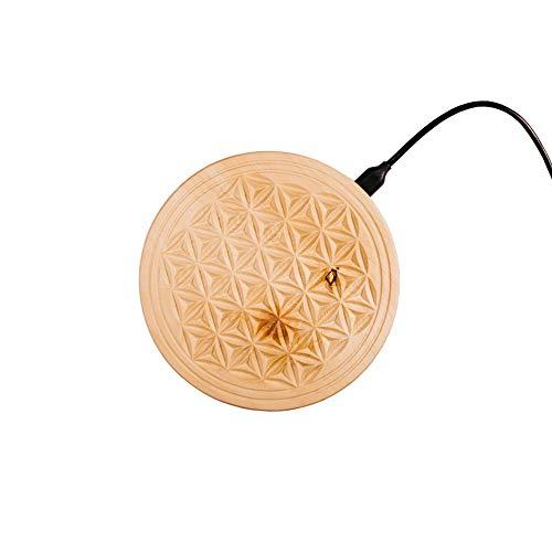 Qi wireless charger, induktive Ladestation aus Zirbenholz