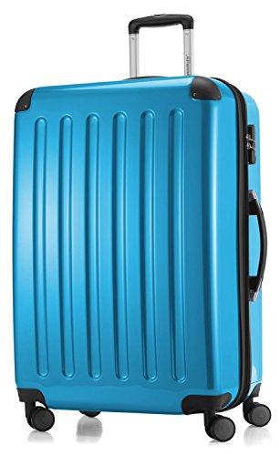 Hauptstadtkoffer - Hartschale Koffer Trolley Serie Alex 119 l cyanblau hochglanz + 20,- Reisegutschein