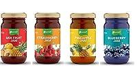 Pursuit MixFruit Strawberry Pineapple Blueberry Jam (Set of 4)