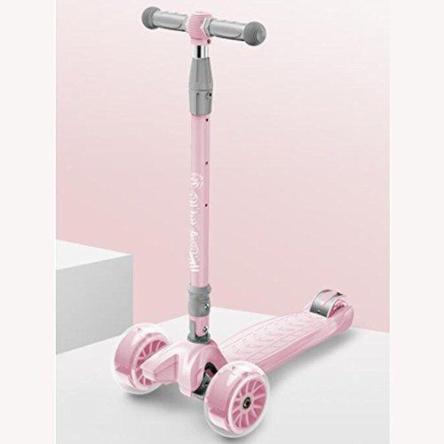 CAR- Children\'s Scooter Kinder Roller 1-6 Jahre Alte Kinder Roller Mit PU Wheels Outdoor Rutsche Fahrt Auf Spielzeug Höhenverstellbar Jungen Mädchen Geschenke,Pink