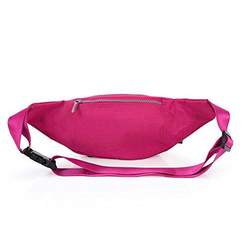 Lady Moda Colore Solido Sacchetto Del Messaggero Multi-zip Il Turismo Il Tempo Libero Borse Fanny Pack (stili Multipli),C A