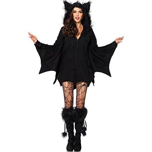 ROBO Costume Halloween Natale Cosplay Pipistrello da Donna Role Playing Sexy Uniform