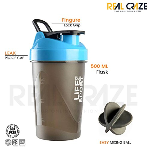 Sports Protein Shaker Sipper/Gym Bottle/Water Bottle With New Design Plastic Ball 500 Ml Shaker