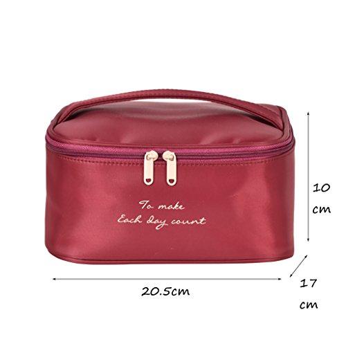 CLOTHES- Sacchetto cosmetico di viaggio sacchetto di immagazzinaggio ad alta capacità sacchetto cosmetico portatile multifunzione sacchetto di lavaggio separato ( Colore : Cielo blu ) Vino Rosso