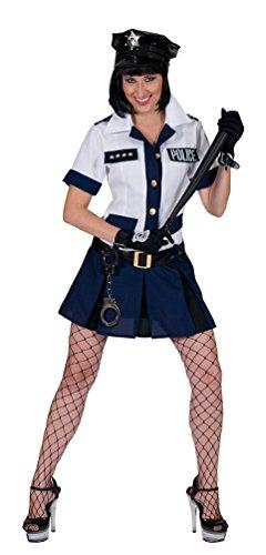 Blau Kostüm Amy - Pierro´s Kostüm Polizistin Amy Polizistin Damenkostüm Kleid Gürtel Größe 36 38 40 42 44 46 für Karneval, Fasching, Halloween, Motto Party / Berufe, Polizei