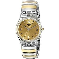 Swatch Reloj Digital de Cuarzo para Mujer con Correa de Acero Inoxidable – LK351B