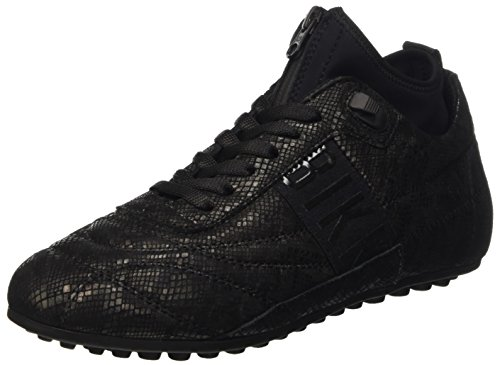 Bikkembergs Soccer 773 Shoe W Leather/Lycra, Scarpe Low-Top Donna, Nero (Croco Print), 39