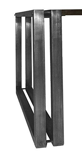 Table basse carrée 70x70cm - Métal et bois massif recyclé (Multicolore) - Style Urbain - NEW YORK #12
