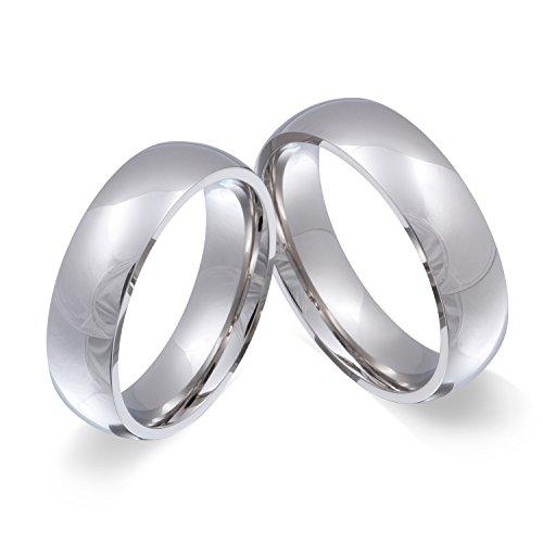 Juwelier Schönschmied - Herren Freundschaftsringe Partnerringe Hochzeitsringe Glamour Edelstahl 54-70 2HHac - Kostenlose Wunschgravur mit AMAZON KONFIGURATOR online gestalten!