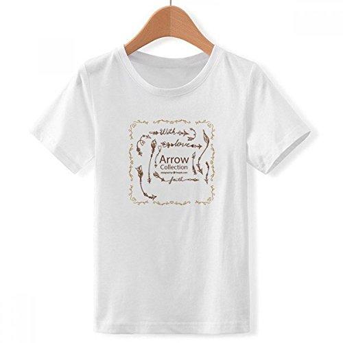 DIYthinker Jungen Bohe Mia Wind Mode Pfeil mit Rundhalsausschnitt Weißes T-Shirt XXX-Groß Mehrfarbig