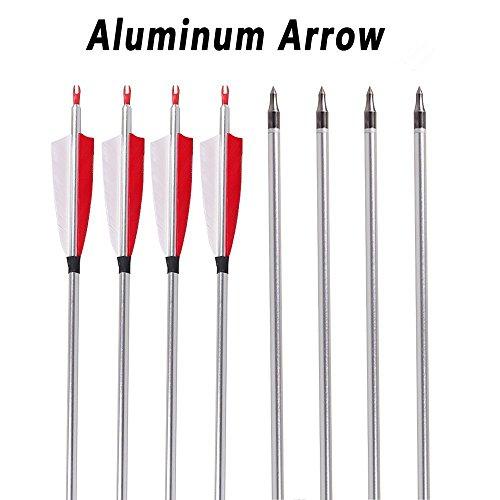 Flecha de flecha de objetivo de campo de flecha desmontable de aluminio...
