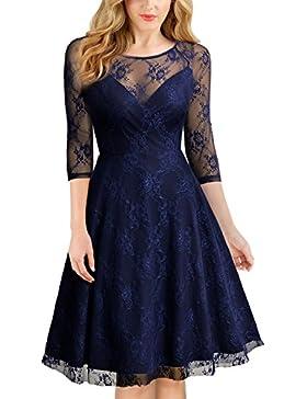 5131ced254ee  Sponsorizzato MIUSOL Vintage Coctel Pizzo Vestito Donna Corta