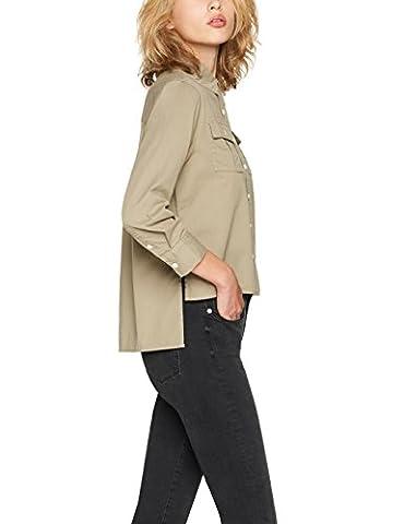 FIND Women's Double Pocket Shirt, Green (Khaki), X-Large