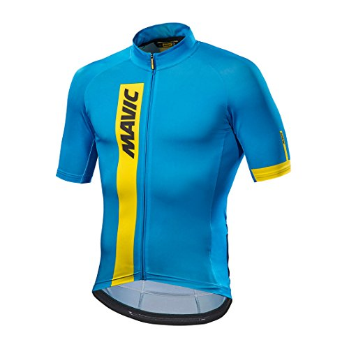 Mavic Cosmic Fahrrad Trikot kurz blau/gelb 2017
