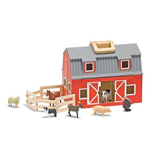 Melissa & Doug - Fold & Go Grange - Bauernhof zum Mitnehmen