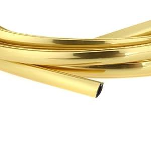 Kingzer 4m U Form Air Vent KFZ Gitter Schalter Rand Gitter Chromrand Strip Zierleiste gold