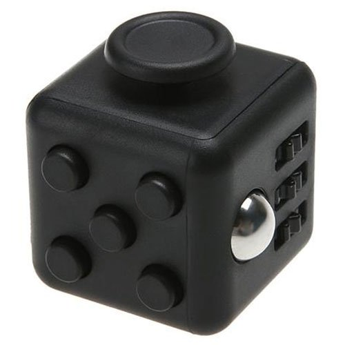 Younger Black Fidget Cube Relieves Stress for Children and Adults