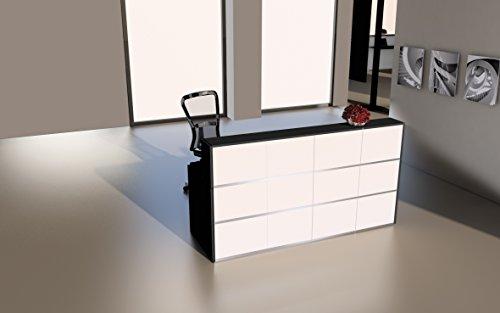 empfangstheke buero Design Empfangstheke Rezeptionstheke Cento 2m Weiß Anthrazit