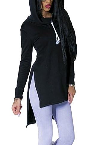 Frauen Langarm Kapuzenpullis, Vinmori Damen Hoodies Langarm Kapuzenpulli Sweatshirt Pullover Tops Bluse Schlank Kapuzen Sweatshirt