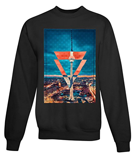 Billion Group   Berlin View   City Collection   Women's Unisex Sweatshirt Noir