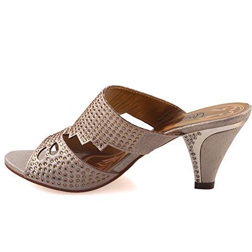Unze Femmes de Carson 'Wedge Sandales Mode Or