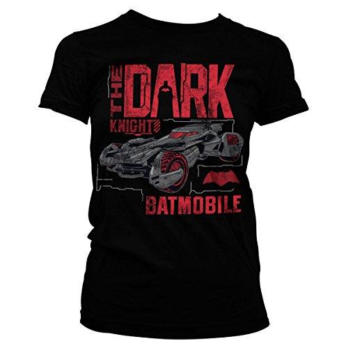 Offiziell Lizenzprodukt Dark Knight Batmobile Damen Tee (Schwarz), XX-Large