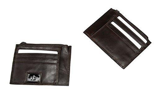 d4b4d0bdeb Portafoglio uomo ROCCOBAROCCO moro in pelle tasca con zip carte di credito  A3915