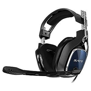 ASTRO A40 TR Gaming-Headset mit Kabel, 4. Generation, ASTRO Audio V2, 3,5mm Klinke, austauschbares Mikrofon, Lautsprecher-Tags, Mod-Kit Kompatibel, Leichtgewicht, PC/Mac/PS4 – schwarz/blau