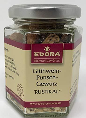 Premium Qualität Gewürz EDORA Schraubglas Glühwein Jagertee Punsch Kinderpunsch Apfelwein Apfelsaft Rustikal Gewürz 55 Gramm