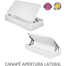 CANAPE ABATIBLE DE APERTURA LATERAL 90X190 Blanco