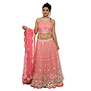 WV&U Women's Chaniya Choli (Pink_Large)